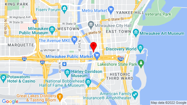 Google Map of 400 N Water St, Milwaukee, WI 53202