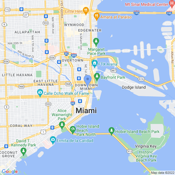 Miami International Science Fiction Film Festival Map
