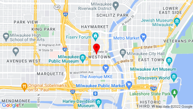 Google Map of 400 W. Kilbourn Avenue, Milwaukee, WI 53203