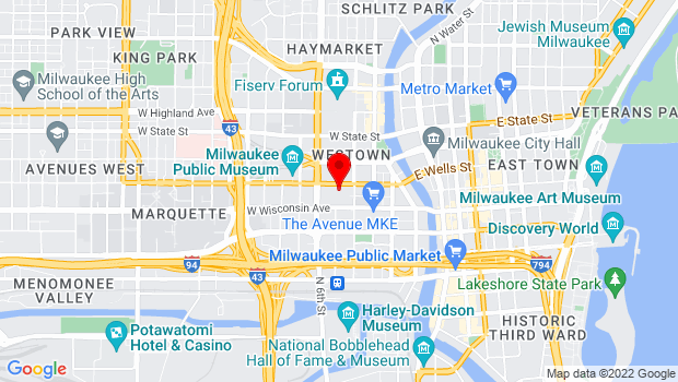 Google Map of 400 W. Wisconsin Avenue, Milwaukee, WI 53203