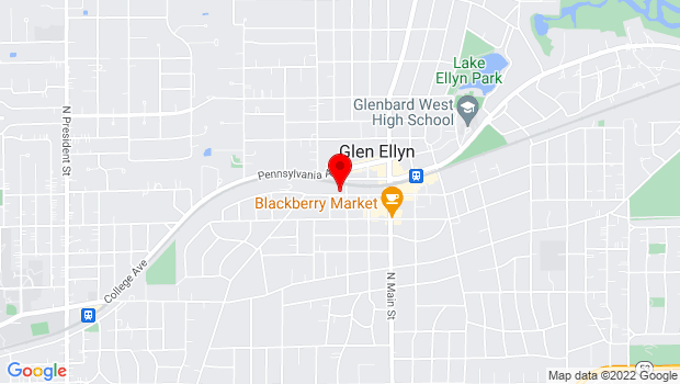 Google Map of 400 Duane, Glen Ellyn, IL 60137