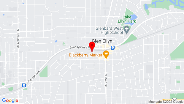 Google Map of 400 Duane St, Glen Ellyn, IL 60137