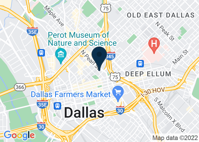 Map of 400 North Olive Street, Dallas, TX 75201, United States