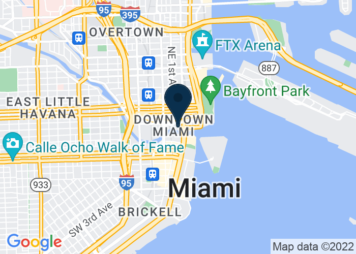 Map of 400 South East Second Avenue, Miami, FL, United States
