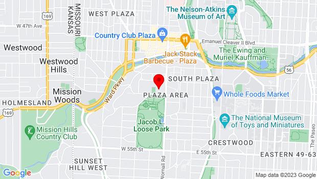 Google Map of 400 W 51st Street, Kansas City, MO 64112
