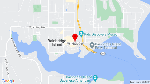 Google Map of 400 Winslow Way East, #120, Bainbridge Island, WA 98110