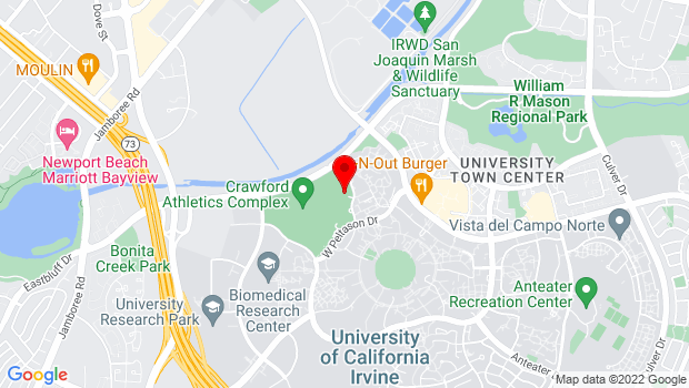 Google Map of 4000 Mesa Road, Irvine, CA 92697