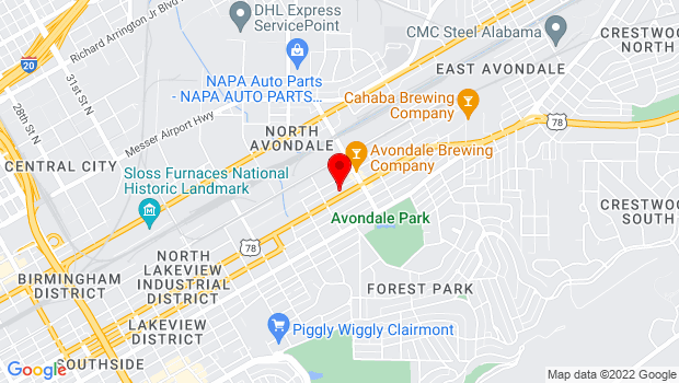 Google Map of 4000 3rd Avenue South, Birmingham, AL 35222
