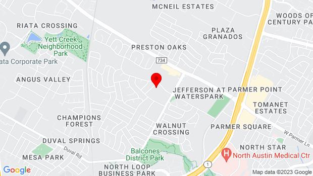 Google Map of 4001 Adelphi LN., Austin TX 78727, Austin, TX 78727