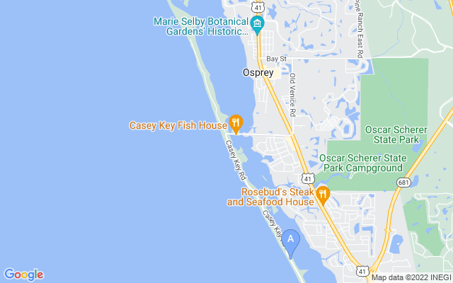 4005 Casey Key Rd Nokomis Florida 34275 locatior map