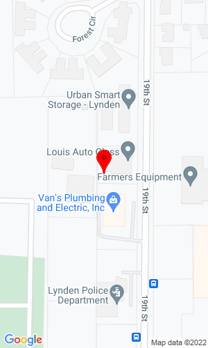 Google Map of 401 19th Street+Lynden+WA+98264