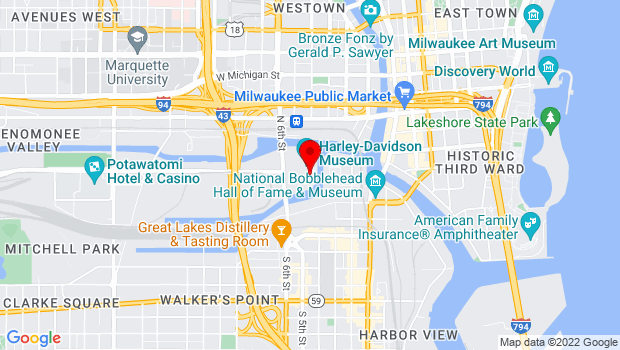 Google Map of 401 W. Canal Street, Milwaukee, WI 53201