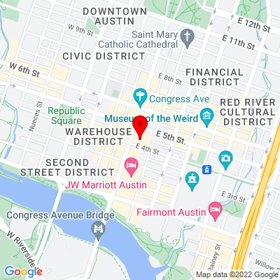 Google Map of 401 Congress Avenue Suite 1540 Austin, TX 78701
