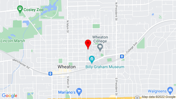 Google Map of 401 E. Franklin St., Wheaton, IL 60187, Wheaton, IL 60187
