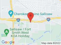 Location of Sallisaw Campus on a map