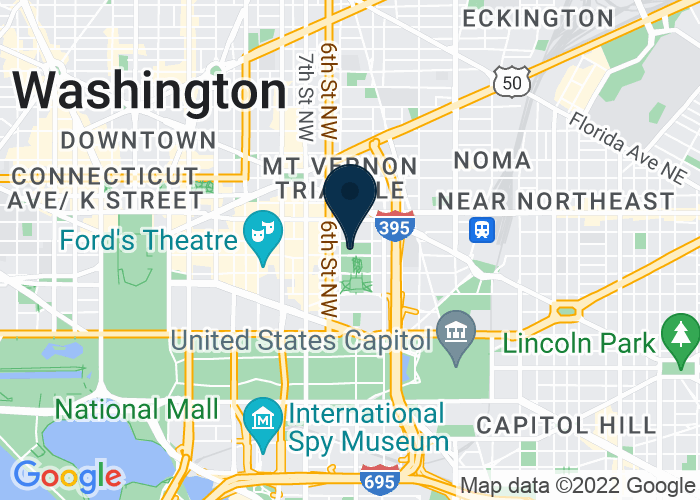 Map of 401 F Street NW, Washington, DC 20001, United States