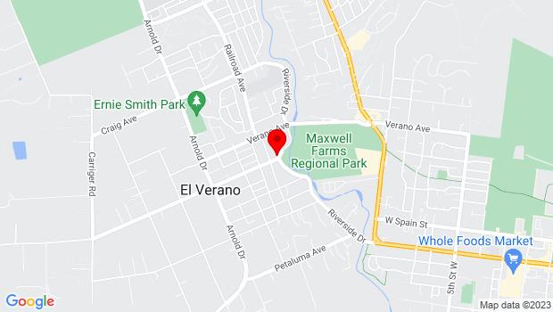 Google Map of 401 Grove St, Sonoma, CA 95476