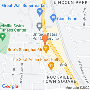 Google Map of 401 north washington street rockville md 20850