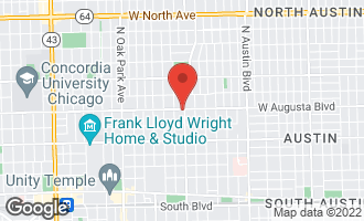 Map of 401 Augusta Street OAK PARK, IL 60302