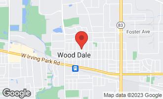 Map of 401 North Cedar Avenue WOOD DALE, IL 60191