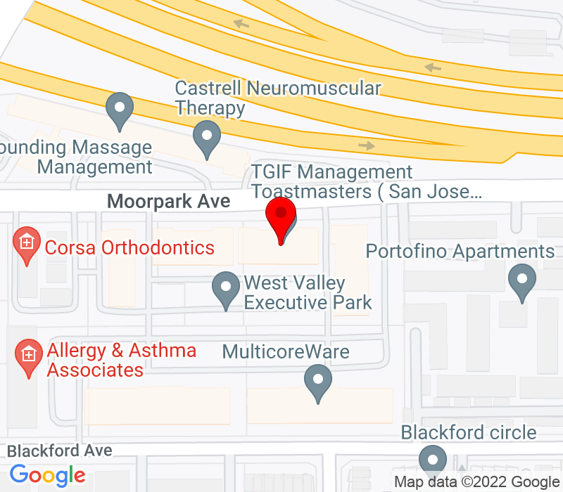 Click to view Google maps office address 4020 Moorpark Avenue, Suite 101, San Jose, CA 95117