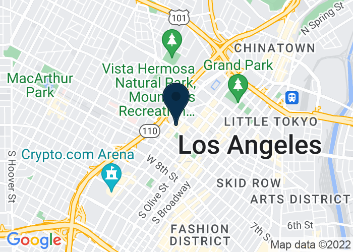 Map of 404 S. Figueroa Street, Los Angeles, CA, United States