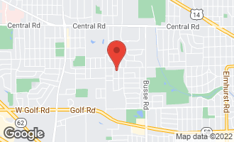 Map of 404 South Deborah Lane MOUNT PROSPECT, IL 60056