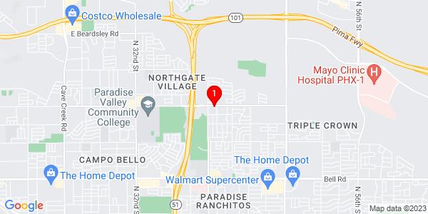 Google Map of 4045 E Union Hills Dr, Phoenix, Arizona