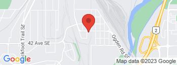 Google Map of 4053+Ogden+Road+South+East%2CCalgary%2CAlberta+T2G+4P2