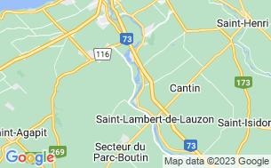 Map of Camping Remous De La Chaudière