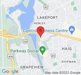 Google Map of 406+Ontario+Street%2CSt+Catharines%2COntario+L2R+5L9