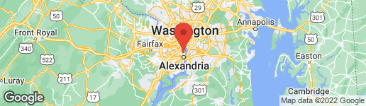 Map of 406 Glebe Road East Alexandria, VA 22305