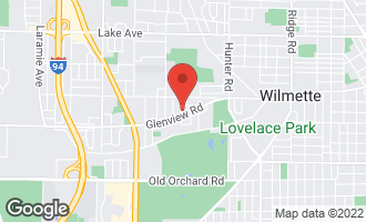 Map of 406 Wilshire Drive West WILMETTE, IL 60091