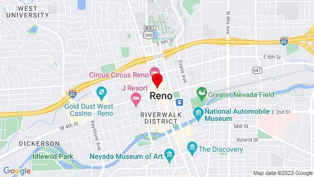 Google Map of 407 N. Virginia, Reno, NV 89505