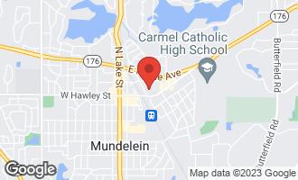 Map of 407 Fairhaven Lane MUNDELEIN, IL 60060