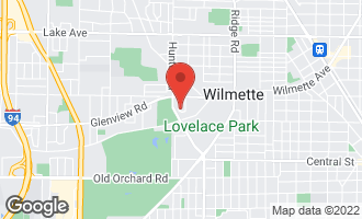 Map of 408 Sandy Lane WILMETTE, IL 60091