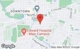 Map of 409 East Hillside Road NAPERVILLE, IL 60540
