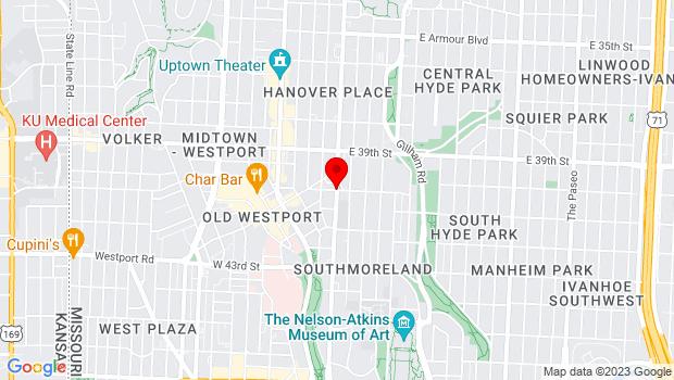 Google Map of 40th and Main Street, Kansas City, MO