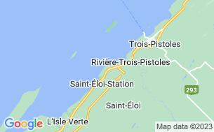 Map of Camping Des Flots Bleus Sur Mer