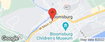 Map of 211 W Main St in Bloomsburg
