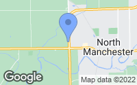 Map of North Manchester, IN