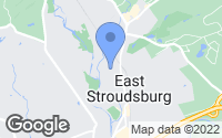 Map of East Stroudsburg, PA