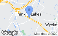Map of Franklin Lakes, NJ