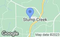 Map of Stump Creek, PA