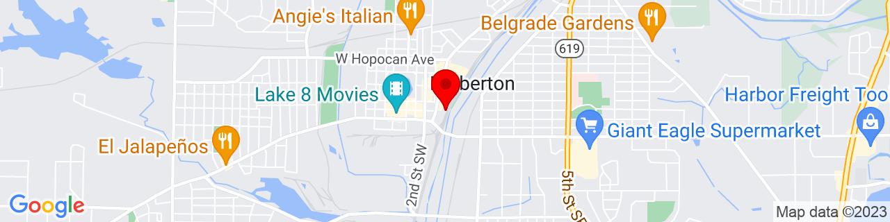 Google Map of 41.01277777777778, -81.60499999999999