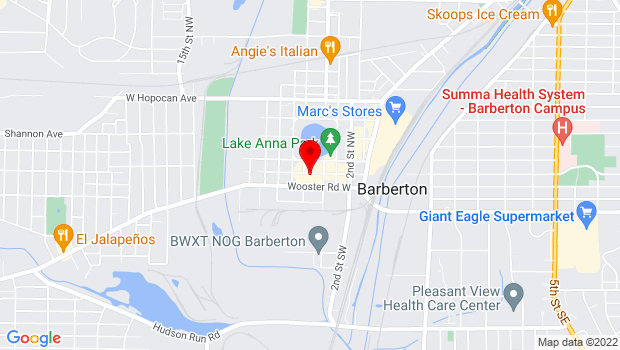Google Map of 584 West Tuscarawas Ave, Barberton, OH 44203