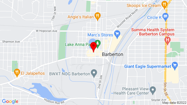Google Map of 565 W. Tuscarawas Ave., Barberton, OH 44203