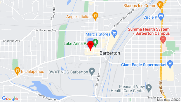 Google Map of 571 W. Tuscarawas Avenue, Barberton, OH 44203