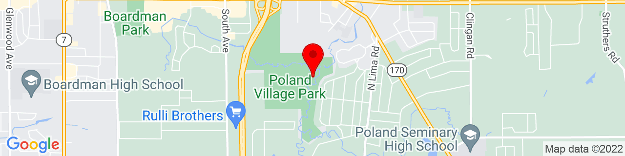 Google Map of 41.0137655, -80.6189795