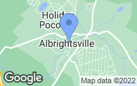 Map of Albrightsville, PA